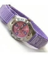 Vintage Swerve Women's Silver Purple Nylon Strap Watch Fresh Battery EXC... - $21.78