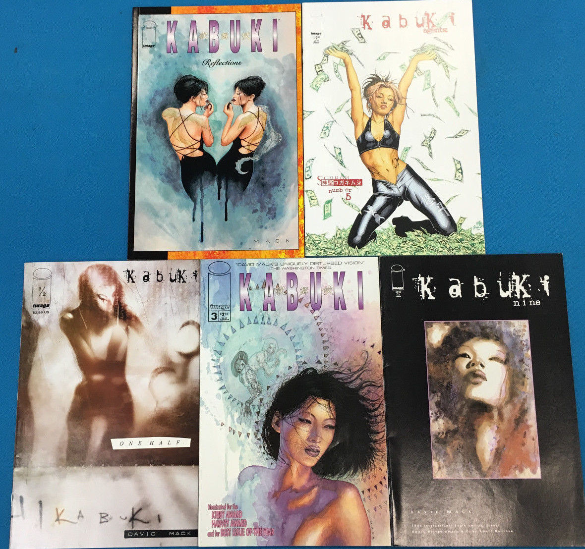 Primary image for KABUKI lot of (5) issues as shown (1998-2001) Image Comics FINE+