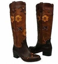 NWT WOMENS LUCKY BRAND HOLLY WESTERN CUT OUT BOOTS 6 M - $149.99