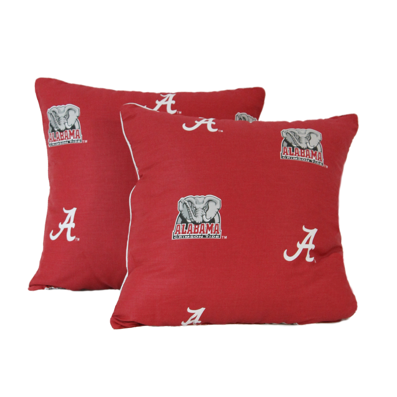 Alabama Crimson Tide Decorative Pillow Set 16