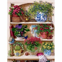 "Flower Display 16X20"" Paint By Number Kit DIY Acrylic Painting on Canvas... - $9.59"
