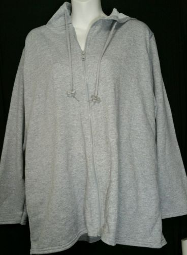 Primary image for Just My Size JMS Hoodie Sweatshirt Plus Size 14W 16W Jacket Gray Hood NWT