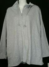 Just My Size JMS Hoodie Sweatshirt Plus Size 14W 16W Jacket Gray Hood NWT  - $16.81