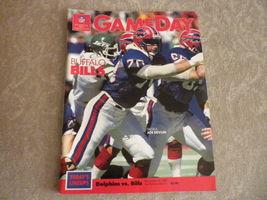 NFL GAME DAY Mag 1988 Miami vs Buffalo Joe Robbie Stadium - $5.75
