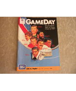 NFL Game Day Magazine 1987 Hall of Fame inductees , Jets vs Eagles Giant... - $18.99