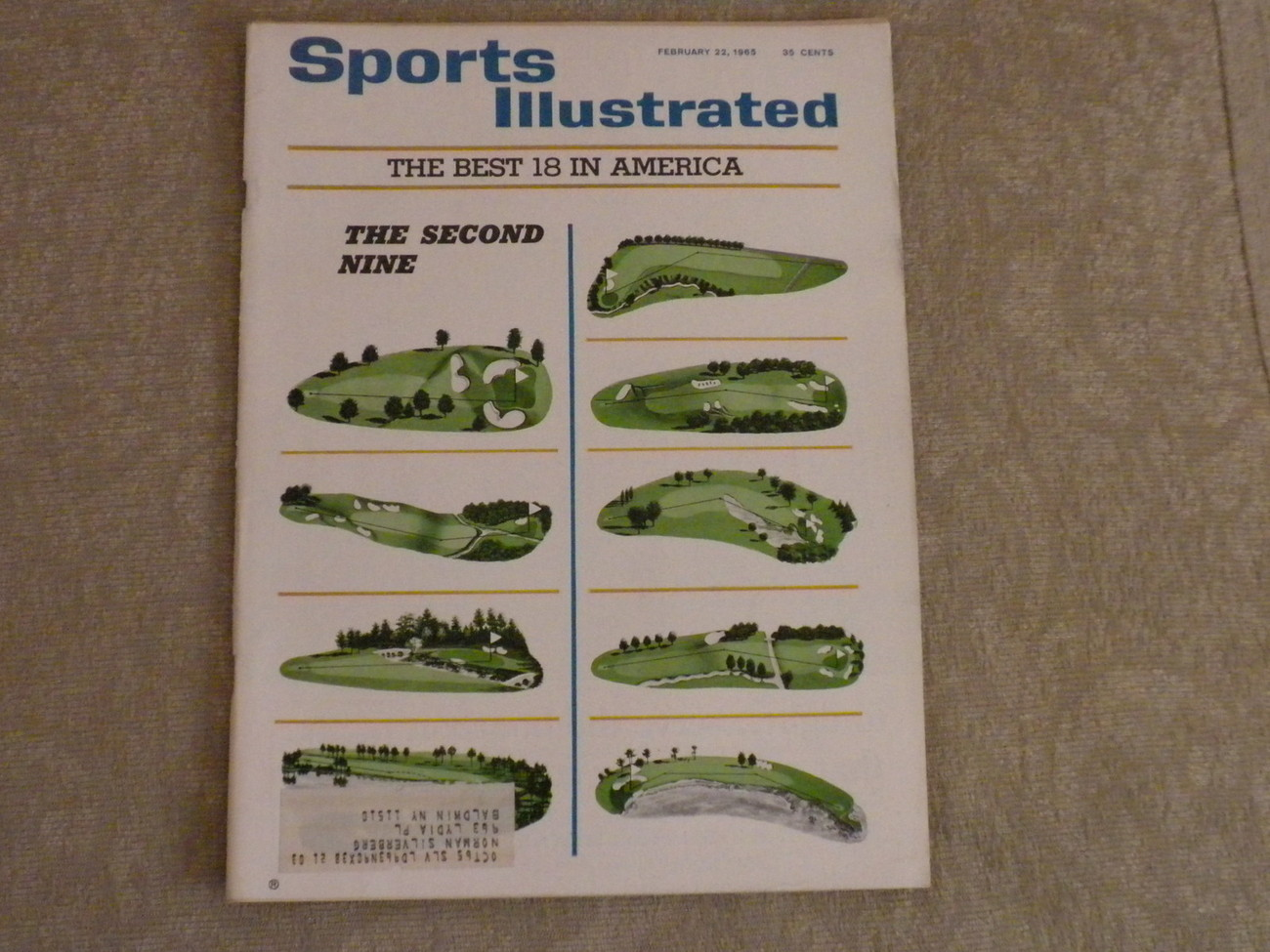 GOLF Sports Illustrated Feb 1965 Best 18: Second Nine; Peter Snell, Daytona