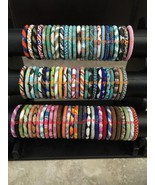 USA 50 SET Nepal Rolls Glass Bead Bracelet crochet handmade bangle Random - $108.90