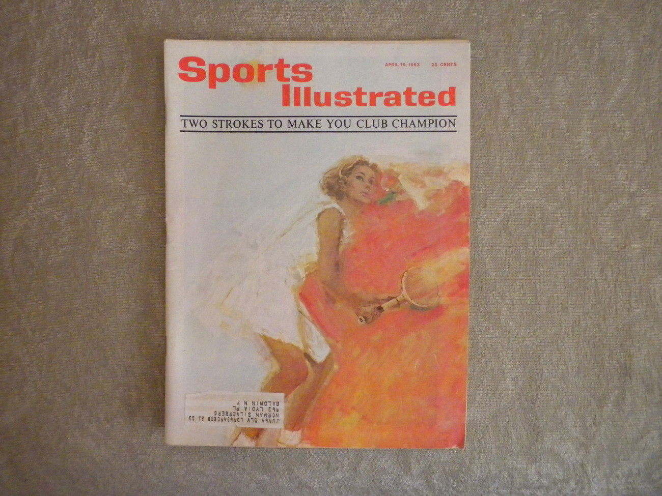 Sports Illustrated TENNIS April 1963: Bil Talbert, James Braddock, Jack Nicklaus