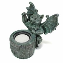 CAT GARGOYLE VOTIVE HOLDER Candle Winged Kitty ... - $24.88