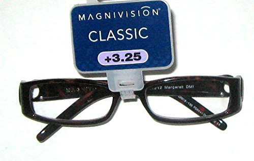"Primary image for Foster Grant Magnivision Fashion Readers +3.25 ""Margaret"" Tortoise Brown"