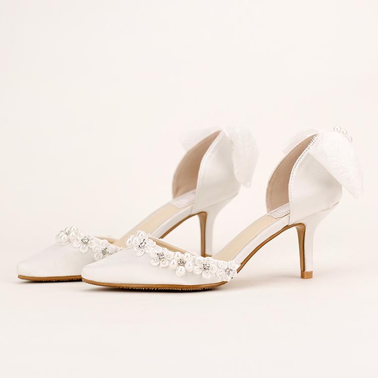 White Wedding Shoes Ivory Bridal Shoes Ivory Low Heels Ivory Wedding Heels