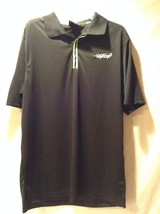 Men's Guinness Short Sleeve Collared Shirt Size XL Polo Rugby Style Black