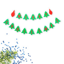 Merry Christmas Tree Double Banner Ornament Red and Green Holiday Decora... - €14,91 EUR