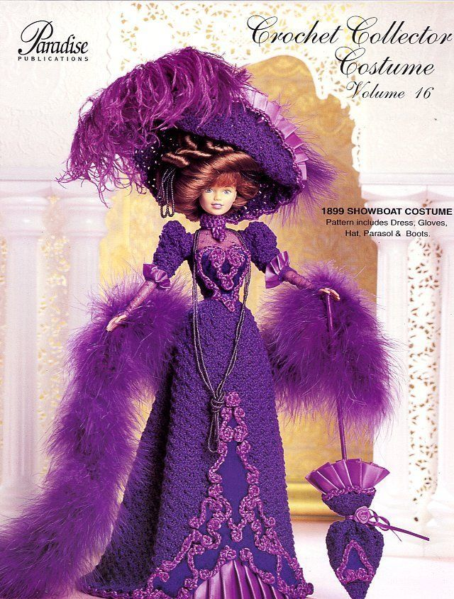 Primary image for 1899 Showboat Costume for Barbie Doll Paradise #16 Crochet Pattern Leaflet