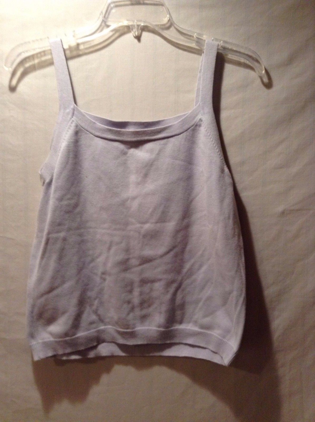 Women's Gap 100% Cotton White Tank Top Good Used Condition Size Medium