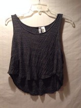 Women's H+M H&M Dark Gray Crop Top Hi Low Shirt Great Used Condition Small