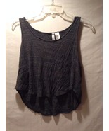 Women's H+M H&M Dark Gray Crop Top Hi Low Shirt Great Used Condition Small - $39.59