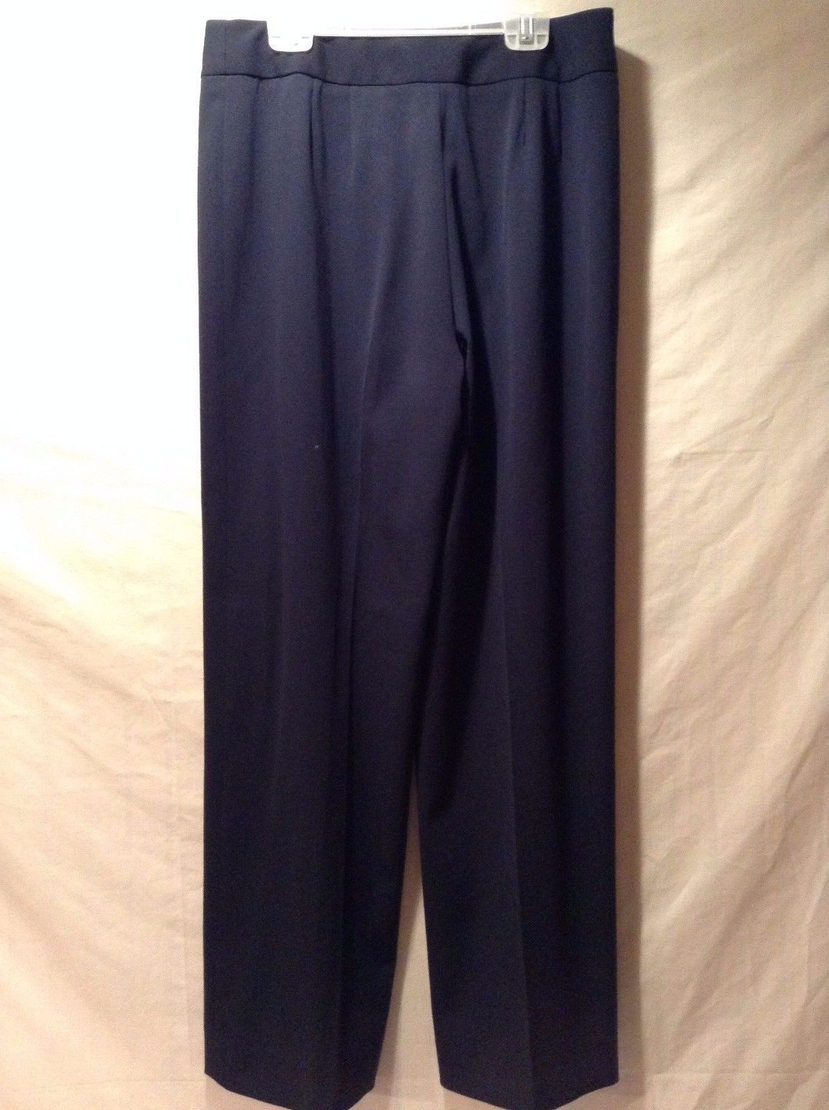 Women's Navy Blue Slacks Pants Straight Cut Valerie Separates Great Condition 4