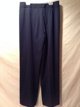 Women's Navy Blue Slacks Pants Straight Cut Val... - $59.39