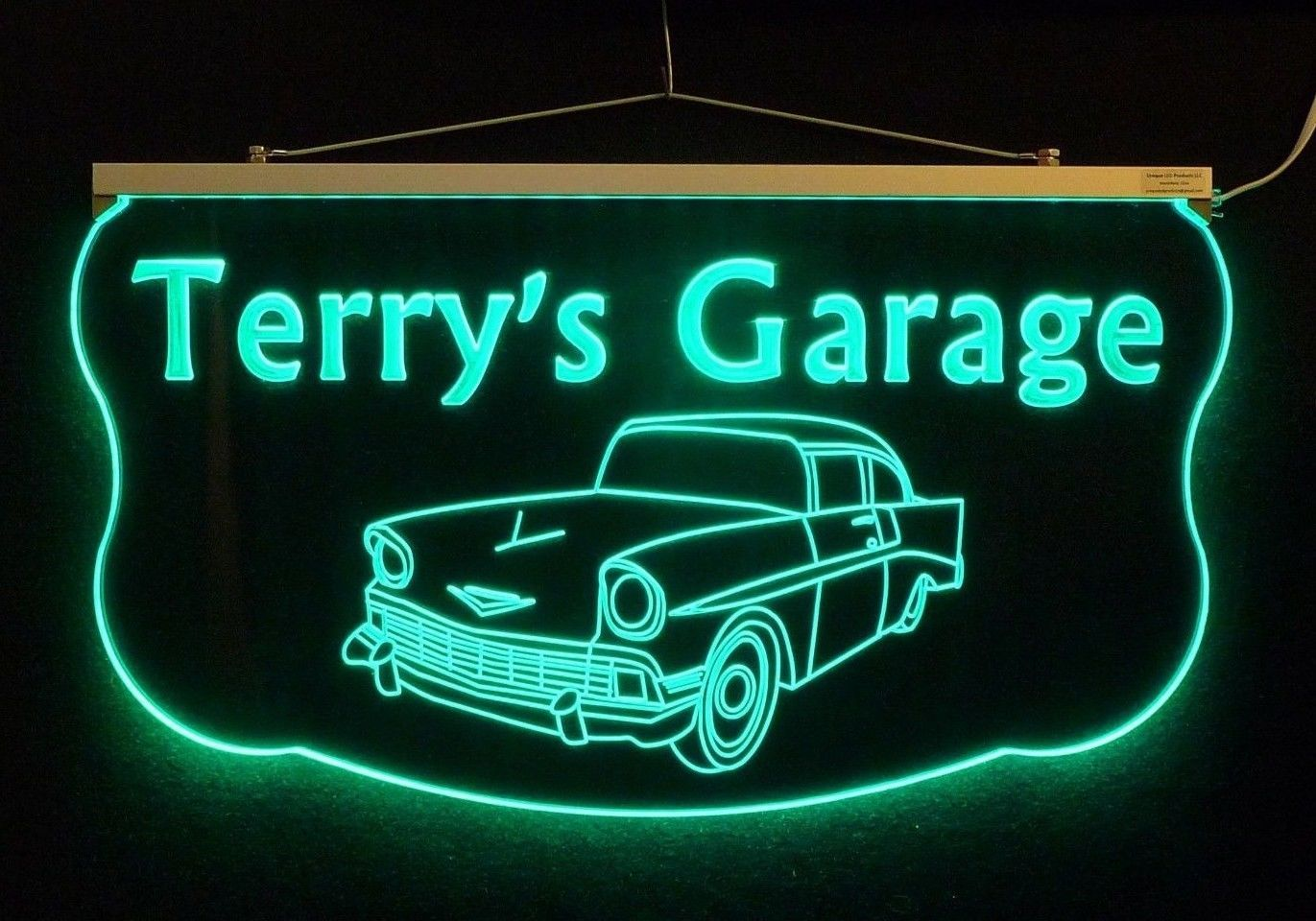 Primary image for Personalized LED Sign, Man Cave, Garage, 57 Chevy, Antique Car