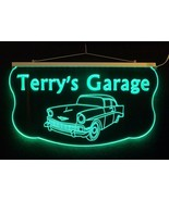Personalized LED Sign, Man Cave, Garage, 57 Chevy, Antique Car - $138.60