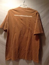 American National Rattlesnake T-shirt Tee Orange White 100% Cotton Authentic image 3