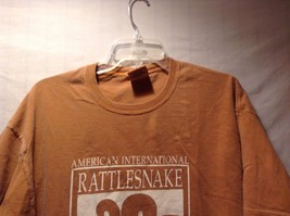 American National Rattlesnake T-shirt Tee Orange White 100% Cotton Authentic image 5
