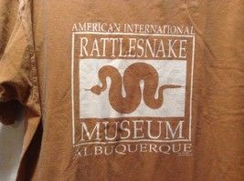 American National Rattlesnake T-shirt Tee Orange White 100% Cotton Authentic image 4
