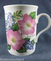 Crown Trent Coffee Cup Rosa canina Vicia Cracca... - $17.00