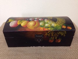 Vtg Handmade Tole Painted Fruit 10 Inch Wood Re... - $21.73