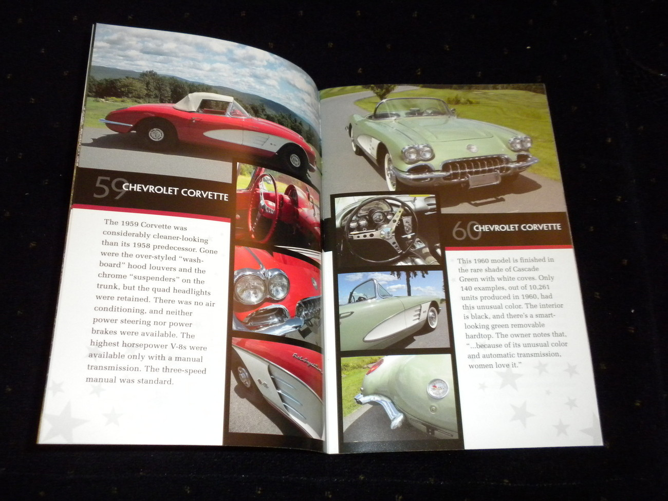 CORVETTE CHEVY CAR color exhibition booklet SARATOGA AUTO MUSEUM 2009
