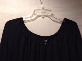 Women's Black A.N.A. Long Sleeved Shirt Size 1XL Loose Fit Adorable image 4