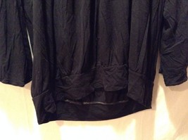 Women's Black A.N.A. Long Sleeved Shirt Size 1XL Loose Fit Adorable image 5