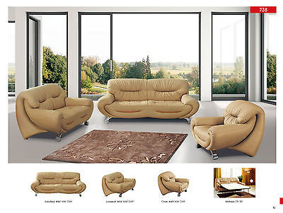Chic Modern 738 Italian Leather Sofa Living Room Set Contemporary Sofa Sleeper