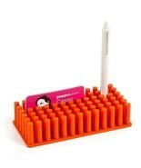 Poppin Orange Softie Grip Grass Pen Holder, New - $8.50
