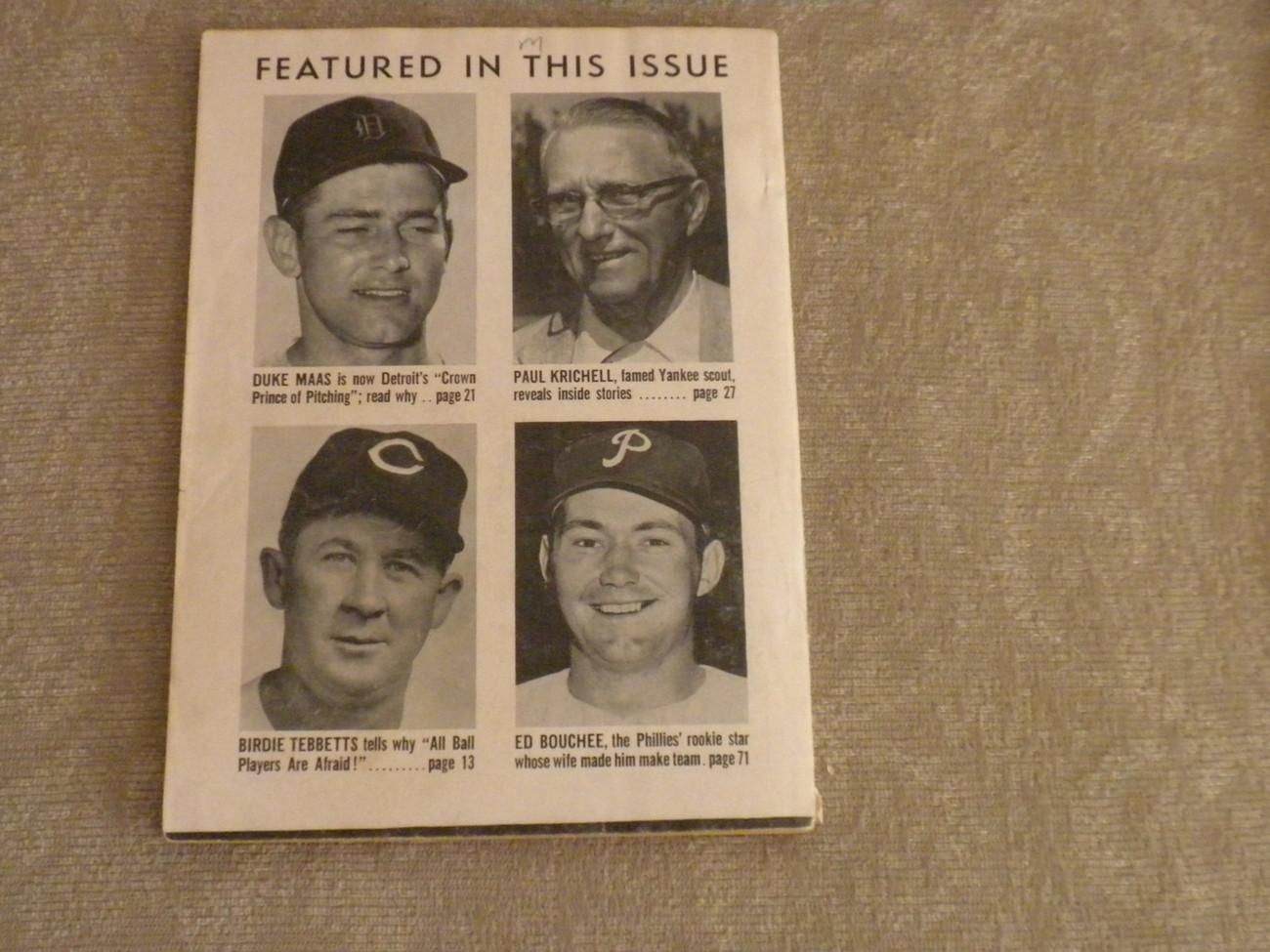 July 1957 Baseball Digest: Don Hoak, Cinn Redlegs, Duke Maas, Ed Bouchee, Boyd