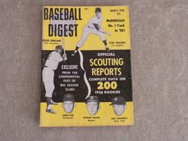 March 1958 Baseball Digest: Stan Williams, W Kirkland, Gil McDougald, Dr... - $5.75