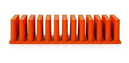 Poppin Orange Softie Grip Grass Pen Holder, New
