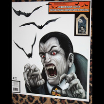 Gothic Horror Prop-DRACULA VAMPIRE BATS-Window Clings-Halloween Party De... - $4.92