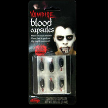 True Horror-ZOMBIE VAMPIRE FAKE BLOOD CAPSULES-Costume FX Effects Prop A... - $4.92