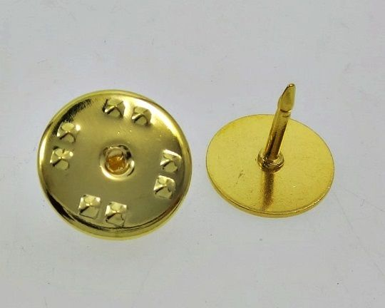Primary image for 100 Economy GOLD Brass TIE TACKS tacs Pins + Backs 10mm pad x 8mm post No Nickel