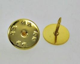 100 Economy GOLD Brass TIE TACKS tacs Pins + Backs 10mm pad x 8mm post N... - $16.82