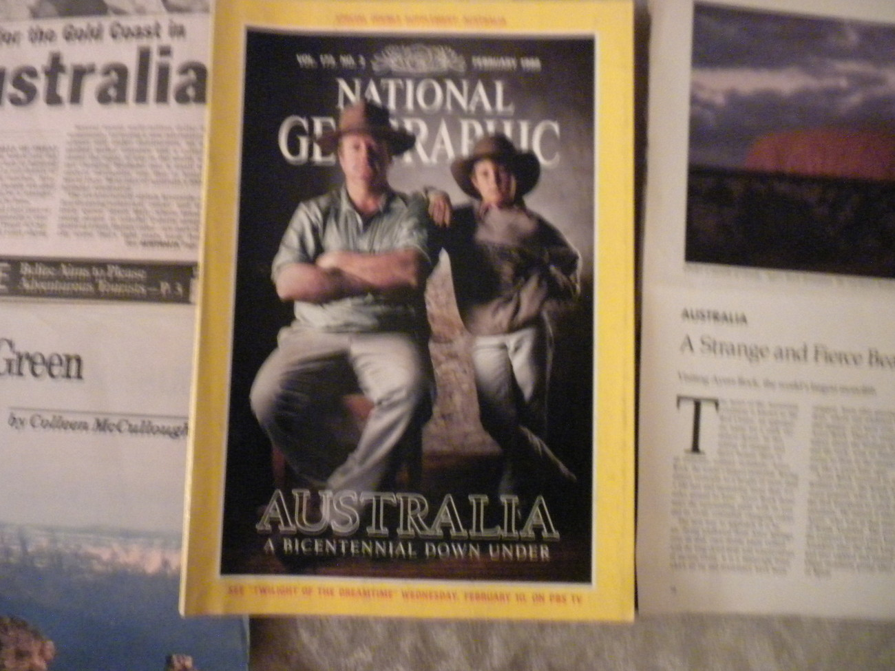 Australia Bicentennial the land, Past, Present National Geographic & extras1988