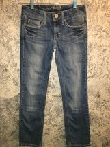 AMERICAN EAGLE Hipster faded denim blue jeans l... - $25.65