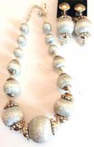 Vintage Graduated Silver Thread Necklace Set - 1960's era - $15.00