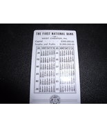 Bank Wallet Calendar First National Bank in West Chester PA  1951 & 1952 - $6.00