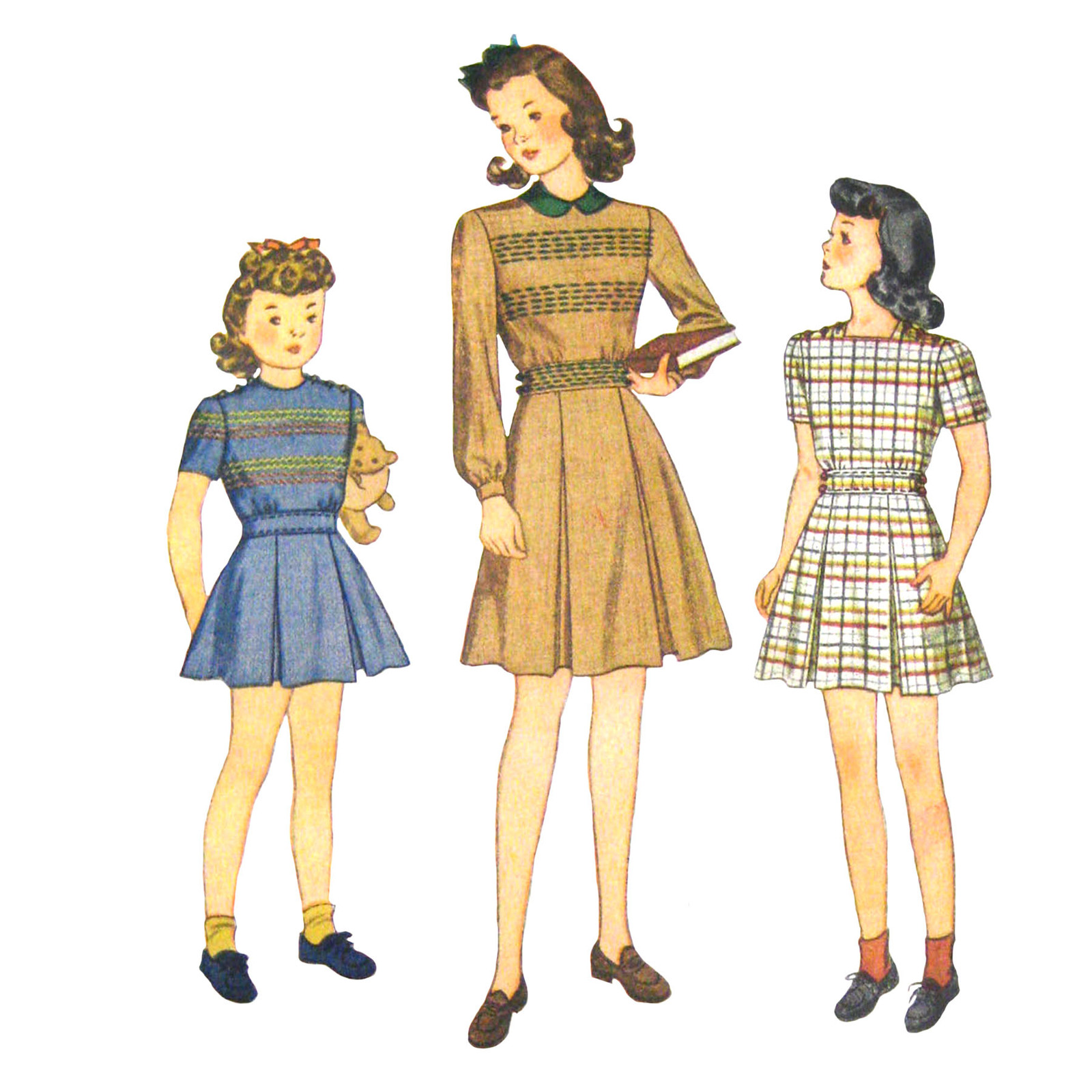 684d0cceb8476 Vintage 40s Simplicity 4464 Girls Long Short and 50 similar items