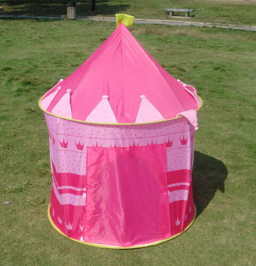 Primary image for Portable Pop Up Princess Tent For Children Kids Outdoor Indoor tent Pink Color