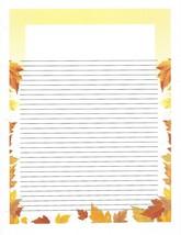 Autumn Leaves 3 Hole Loose Leaf Paper 50 Sheets - $16.82