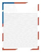 Flag 3 Hole Loose Leaf Paper 50 Sheets - $16.82